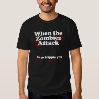 När zombiesna anfaller… Im som snubblar så dig T-shirt