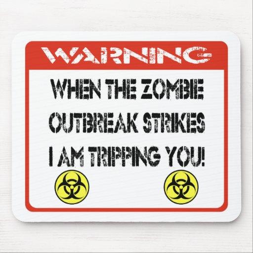 När zombieutbrott slår I-förmiddagen som snubblar  Musmatta