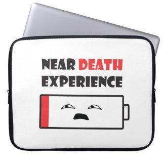 Nära dödbatteriet laptop sleeve