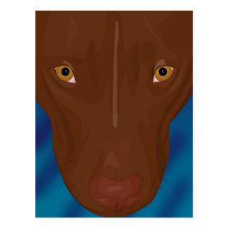 Nära övre porträtt av groptjuren - Digital konst Vykort