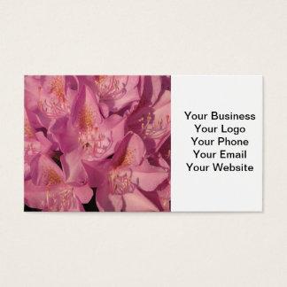 Nära Rhododendronrosor Visitkort