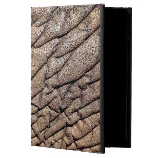 Närbild av afrikanska elefant skinn fodral för iPad air
