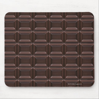 Närbild av chokladpuben musmatta
