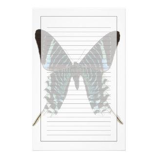 Närbild av en fjäril brevpapper