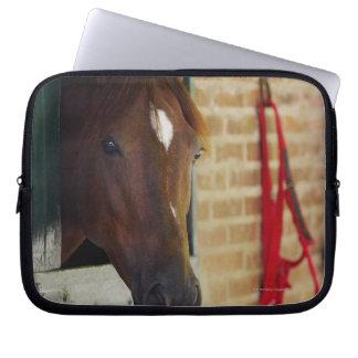 Närbild av en häst 3 laptop fodral
