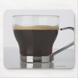 Närbild av en kaffekopp musmatta