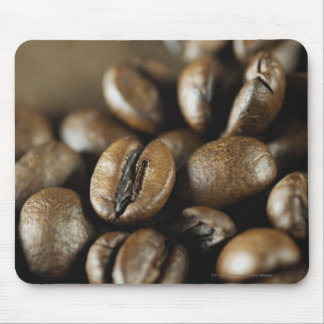 Närbild av kaffebönor musmatta