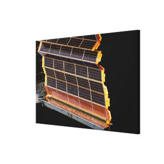 Närbilden beskådar av de sol- samlingarna canvastryck