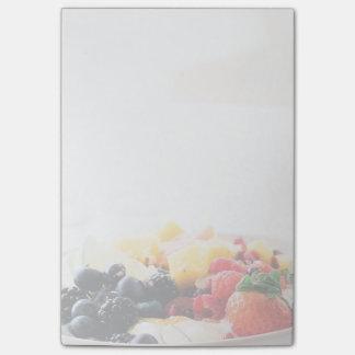 Näring för mellanmål för mat för fruktbunkefrukost post-it block