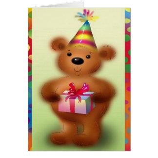 Närvarande hälsningkort för födelsedag hälsningskort