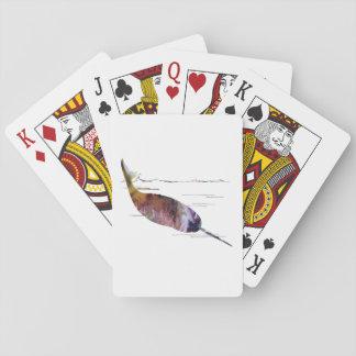 Narwhal konst spelkort