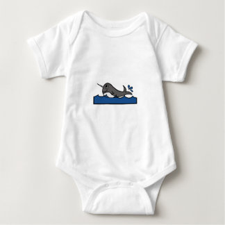 Narwhal stänk t-shirt