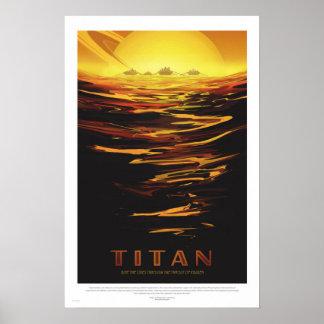 NASA - Den Retro jätten turnerar reser affischen Poster