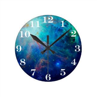 NASA för blått för Orion Nebula skimrande Rund Klocka