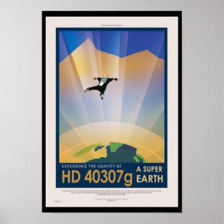 Nasa-framtid reser den Sci Fi affischen - toppen Poster