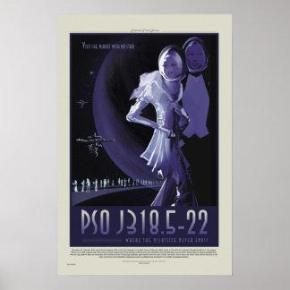 NASA Retro ExoPlanet PSO J318.5-22 reser affischen Poster