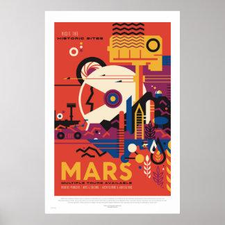 NASA - Retro fördärvar turnerar reser affischen Poster
