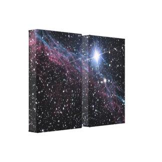 NASA skyler slågna in trycket för Nebulae det kanf Canvastryck