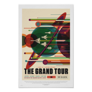 NASA - Tusen dollar turnerar - Retro resa Poster