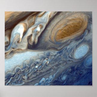 NASAs Jupiter virvlar runt Poster