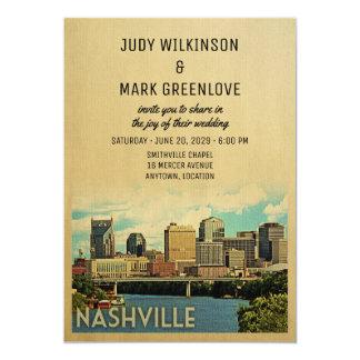 Nashville bröllopinbjudan Tennessee 12,7 X 17,8 Cm Inbjudningskort