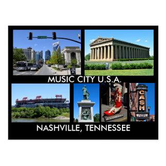 Nashville Tennessee musikstad USA Vykort