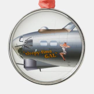 Näskonst på bombplanprydnad julgransprydnad metall