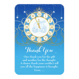 Nästan midnatta tackkort för Princess Saga 8,9 X 12,7 Cm Inbjudningskort