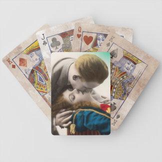 Näsvist koppla ihop att kyssa spelkort