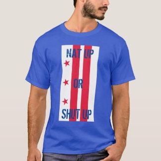 nat övre eller stängd upp flagga t-shirts