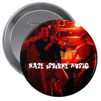 Nate Osborne musik Stor Knapp Rund 10.2 Cm