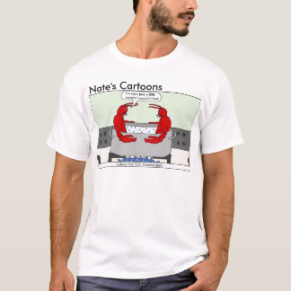 Nates hetten för tecknadhummer badar skjortan tee shirts