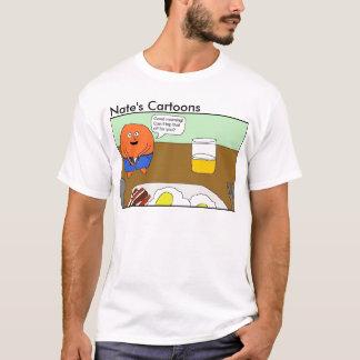 Nates skjorta för fruktsaft för tecknader orange tröjor