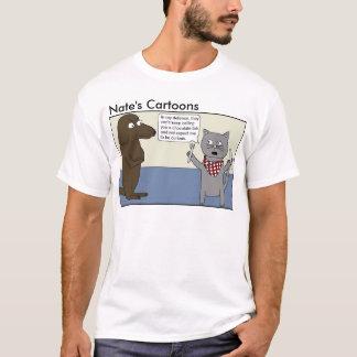 Nates skjorta för labb för tecknadchoklad tee shirt