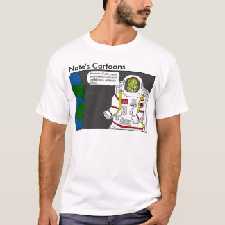 Nates skjorta för tecknadastronaut tee shirts