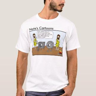 Nates skjorta för tecknadgrottman t shirt