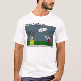 Nates skjorta för tecknadparaply tshirts