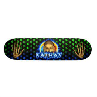 Nathan skalleblått avfyrar den Skatersollie Mini Skateboard Bräda 18,5 Cm