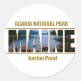 Nationalpark för Acadia för MAINE bildstilsort Runt Klistermärke