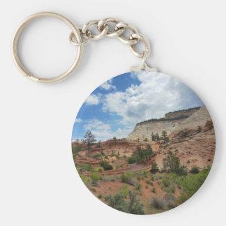 Nationalpark Utah för schackbrädeMesa Zion Nyckelring