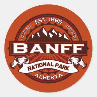 Nationella Banff parkerar Crimson Runt Klistermärke
