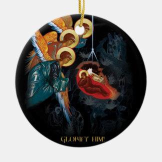 Nativity - grekisk ortodox julprydnad julgransprydnad keramik