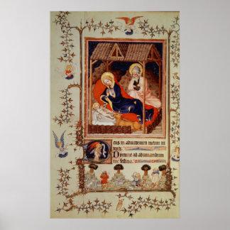 Nativity och umgänge av shepherdset poster