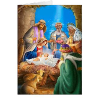 Nativity of Jesus x-mas image for christmas cards Hälsningskort