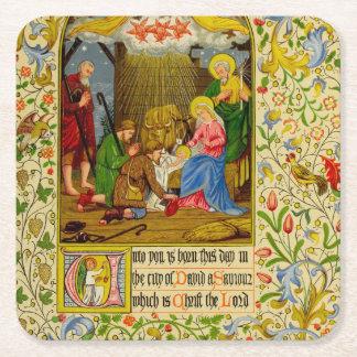 Nativity | Unto dig är född denna dag Underlägg Papper Kvadrat