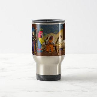 nativitybebis Jesus Mary tre kungjul Rostfritt Stål Resemugg
