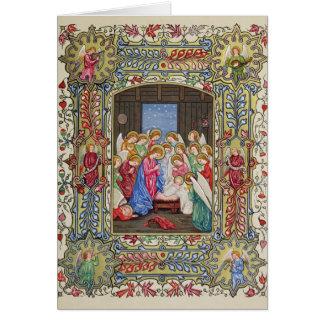 Nativityen av vår Lord Hälsningskort