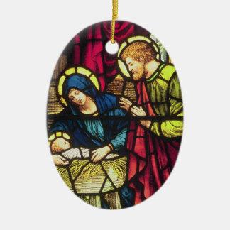 Nativityen Julgransprydnad Keramik