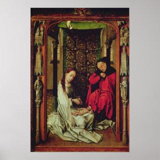 Nativityen, vänsterkanten av en triptych, c.1496 poster