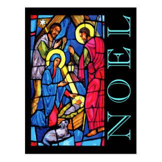 Nativitymålat glassNOEL med lamben och herden Vykort